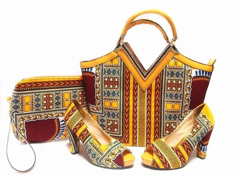 Ensemble Sac et Escarpins Wax Africa